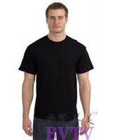 Wholesale 100 Cotton O Neck Short Sleeve Men s T Shirts Perfect Fit Brand New Dense Fine Fabric