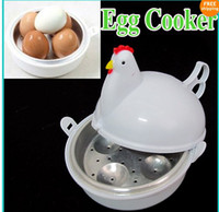 Wholesale New Kitchen Cookware White Microwave Novelty Hen Egg Boiled Boiler Pan Cooker