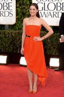 Wholesale 2013 th golden globe awards red carpet dress Marion Cotillard Strapless sash Evening Dresses