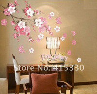 Wholesale Flowers Butterfly Removable Wall Sticker Decal Art DIY Home Decor Wall Vinyl small