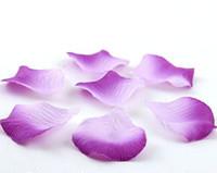 Wholesale 4000pcs Purple Colors Pretty Fabric Flower Rose Petals Wedding Party Decoration