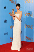 Reference Images anne hathaway dress - Anne Hathaway White Floor Length The th Annual Golden Globe Awards Celebrity Dress