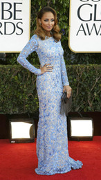 Wholesale Nicole Richie Long Sleeve Lace The th Annual Golden Globe Awards Celebrity Dress