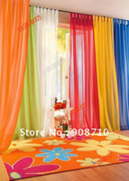 Wholesale hot amp europe gauze curtain kind of color to choose Top grade pure color curtain