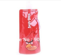 Wholesale Portable folding sports water bottle foldable water bottle ml oz