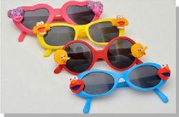 Wholesale sesame street children Kids baby cartoon animal sunglasses girl boy sun glasses UV Protection