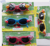 Wholesale sesame street children Kids baby cartoon sunglasses girl boy summer sun glasses UV Protection