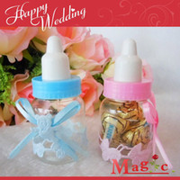 Wholesale wedding favors Baby feeding bottle wedding candy box