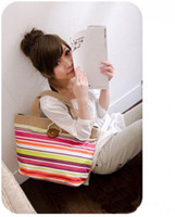 Women Stripes Canvas 1pc fashion bag new hot sale designer handbags low price colorful woman bag for lady girls