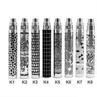 Wholesale Best eGo K Battery Carved pattern mAh mah mah Electronic cigarette Battery For eGO K kits eGo vapor cigarette Ego Atomizer CE4