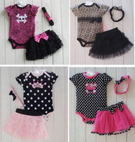 Girl Summer Short Factory Sell 10 Designs 3-piece set Baby girl clothing Cute baby girl suit Baby girl romper skirt headband LZ-T008