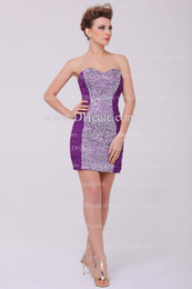 Wholesale Surprise Party Dresses Sexy Strapless mini Beads Chiffon Sheath homecoming Dresses DH4093