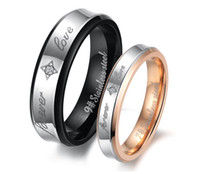Wholesale Trend fashion brand new shining crystal drill lover s titanium stainless steel rings exquisite gift