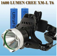 Wholesale 1600Lm CREE XM L XML T6 LED Headlamp Rechargeable Headlight X18650 battery Charger