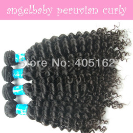 Wholesale 4 bundles pack Peruvian Virgin Human Hair Extension Curly Wave Textures Weaved Can Mix Length Nature Color
