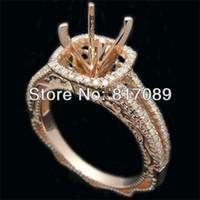 Wholesale 14k ROSE GOLD DIAMOND SEMI MOUNT ENGAGEMENT WEDDING RINGS SETTING ROUND MM