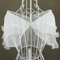 Wholesale Stock White Ivory off the shoulder Organza Wedding Bridal Dress Jacket wraps wrap NEW