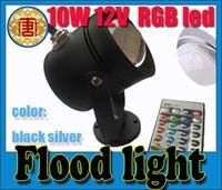 Wholesale Waterproof W RGB Outdoor Remote Control LED Flood Light lamp V underwater lamp Aquarium light