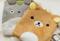 Wholesale Cute bear Protective Soft Carrying Sleeve Bag Inner Case with button Close for Apple iPad Free ship