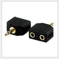 Wholesale mm Audio Headset adapter audioHeadset Splitter Cable Headphones connector