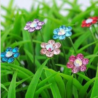 Wholesale 100pcs Crystal Flower Hair Pins Wedding Party Hair Accessories Bride Hair Grips