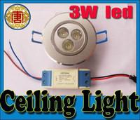Wholesale 3W LED Ceiling Light Down light Recessed Lamp Warm White V V Energy Saving lamp