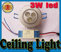3W LED Ceiling Light Down light Recessed Lamp Warm White 85V...
