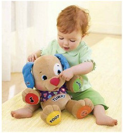 Wholesale Musical Dog Laugh Learn Love to Play Puppy Baby Musical Plush Toy Stuffed Dolls Cute Baby Toys