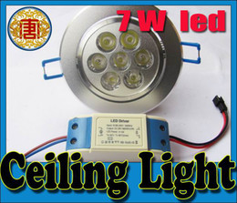 Argentina 700 LM 7W Led Down Lights 7 Leds 120 Ángulo Led Empotrada Lámpara De Techo Alto Brillante Blanco Caliente 85-265V Suministro