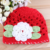 Boy Winter Crochet Hats Baby Crochet Patterns 2 Colors Beautiful Lovely Baby Hats Childrens Jewelry 12PCS LOT Free Shipping