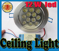 Led Downlights Ultra Bright 12W 1200 LM Lamp White Shell 85-...