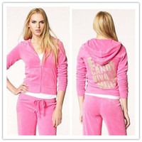 Wholesale women s brand tracksuits hot selling track suits velour sportswear
