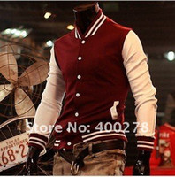 Wholesale Mens Baseball s Jacket Letterman Varsity jacket Turtleneck Jacket Black Navy Red Wine
