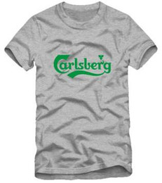 Wholesale new arrival top quality mens tee shirt Carlsberg Beer in Chinese Beer T Shirt New Tshirt for male cotton color