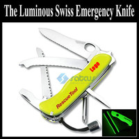 Wholesale Fluorescence Rescue Tool Knife Outdoors Tools Multi Function Knife Multifunctional Army Knife