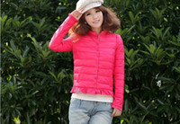 Wholesale Fashion Feather Women Stand Collar Short Design Down Coat Outware Warm Winter Jacket Clothes Fre