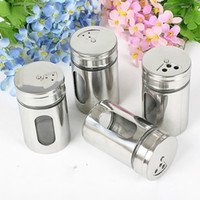 Wholesale Kitchen Spice Jar Sugar Flour Salt Pepper Shaker Powder Storage Glass Bottle Lid