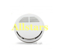 Wholesale Brand New White Home Security System Photoelectric Wireless Smoke Detector Fire Alarm