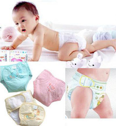 Wholesale Cartoon Cotton Baby Diaper Infant Sleep Diaper Cover Baby Napkin Color HO