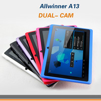 Wholesale Allwinner A13 inch Tablet PC Android Dual CAM Multi Color GHz MB GB Good Quality