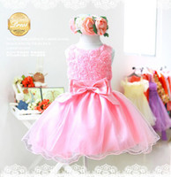 Wholesale 2013 children wedding dress girl princess skirt Korea baby net yarn bowknot dress kid Clothing