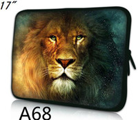 """17'' or more Sleeve Neoprene 17""""-17.1"""" laptop Colorful Soft case Bag Pouch Cover-LION KING printed on both sides-A68-FREE SHIP"""