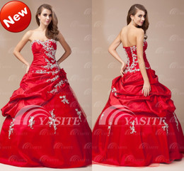 Wholesale 2013 New Arrival Sweetheart Ball Gown Floor Length Applique Flower Bandage Quinceanera Dresses