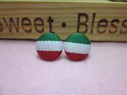 Wholesale Cheapest Earrings Stud earring color block bold stripe handmade stud earring multicolor mix color per