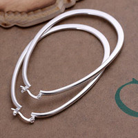 Wholesale 2013 new Sterling silver plated earring quot U quot shape style Hoop amp Huggie Earrings w27ytg