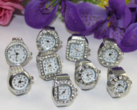 Wholesale 10pcs Assorted silver rhinestone Finger Quartz Ring Watch