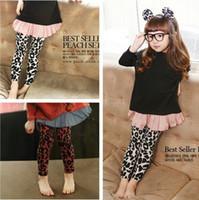 Leopard Girl 3T-4T 2013 spring girls pure cotton leopard print leggings fashion kids tights pants 3-8Y children pants