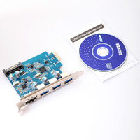 Wholesale SuperSpeed USB ESATA III PCI E PCI Express Port with pin SATA Power Connector