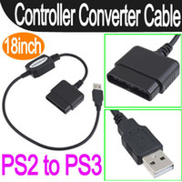 Wholesale PS2 to PS3 PC Game Console USB Controller Converter Adapter Cable Cord