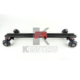 Wholesale By free DHL Professional Kamerar cm Wheel Track Rail Slider Dolly For D II III D D D D800 D90 DSLR Rig DV Camera Shooting